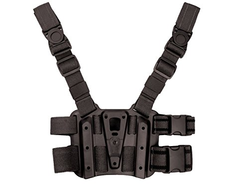 Tactical Dropleg Drop Leg Panel Platform for Holster Magazine Flashlight Pouch Airsoft Black by MDG