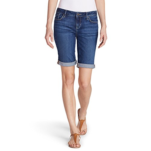 Eddie Bauer Womens Short (Eddie Bauer Women's Elysian Bermuda Shorts, Washed Navy 6)
