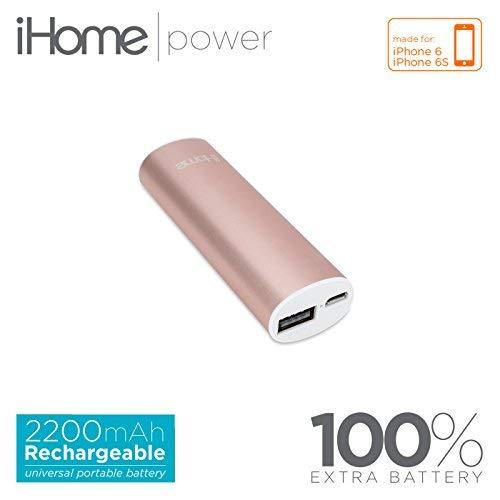 iHome External Battery Pack for Smartphones - Rose Gold