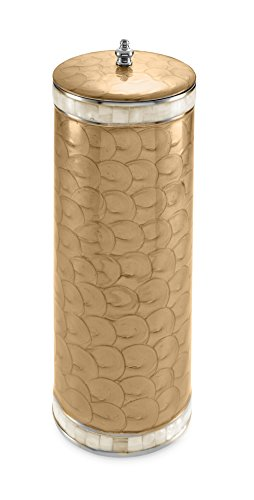 (Julia Knight Classic Toilet Tissue Covered Holder, Toffee, Brown )