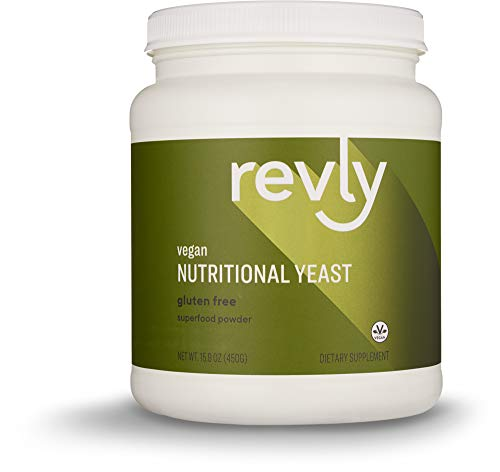 Amazon Brand - Revly Nutritional Yeast Superfood Powder, 15.9 Ounce, 30 Servings, Vegan