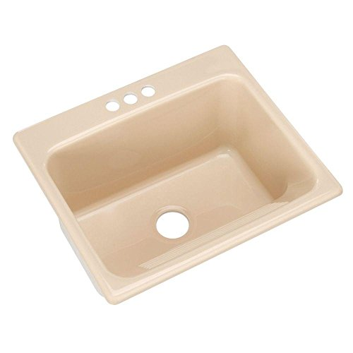 Thermocast Kensington 25 In. x 22 In. Cast Acrylic Laundry / Utility Sink, Candle Lyte