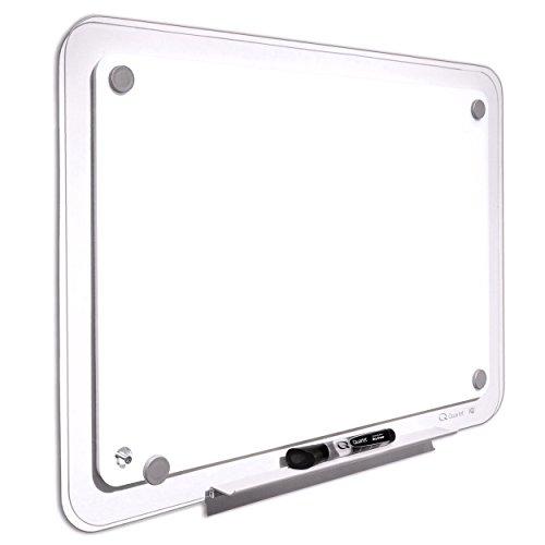 Quartet TM2316 iQTotal Erase Board, 23 x 16, White, Clear Frame (Total Markerboard Erase)
