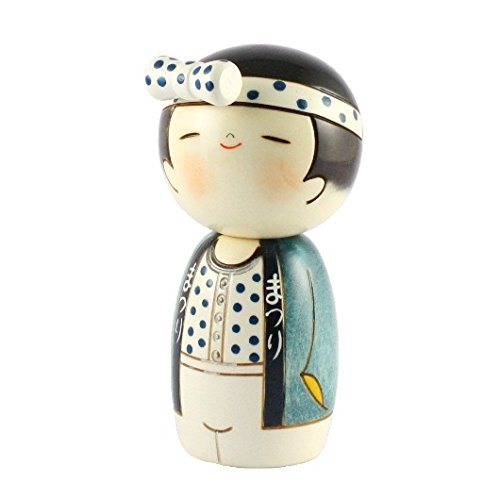 Kokeshi Doll  –   Wasshoi (ragazzo) JAPAN CRAFT