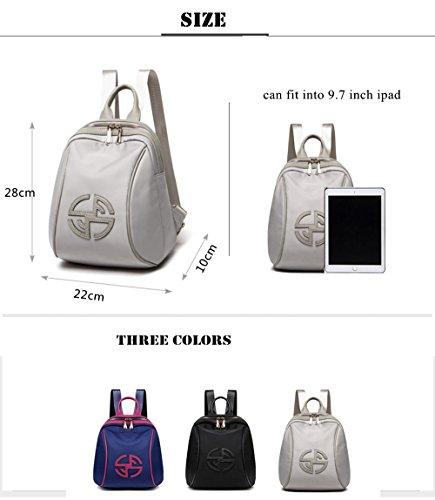 Doble bolsa de hombro de moda femenina impermeable Oxford lienzo luz mochila B
