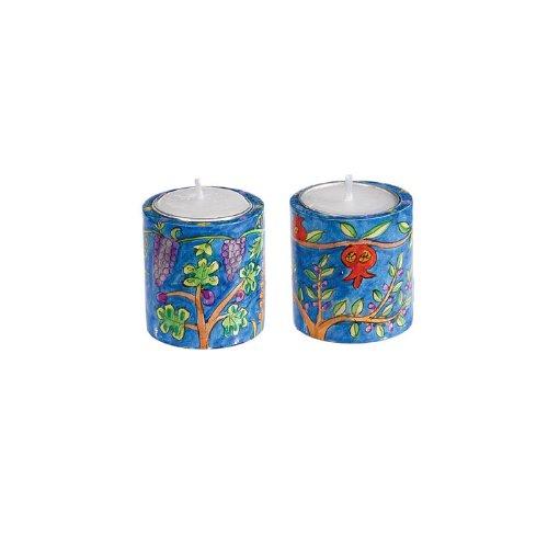Yair Emanuel Round Seven Species Shabbat Candlesticks