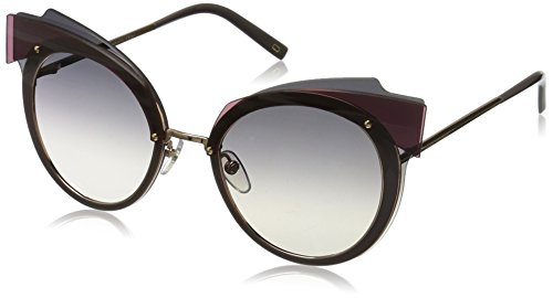 Marc Jacobs Women's Marc101s Cateye Sunglasses, Gold Copper/Dark Gray Gradient, 66 - Jacobs Sunglasses Marc 2017