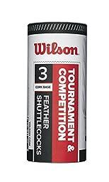 Wilson Feather Shuttlecock (3-Pack), White