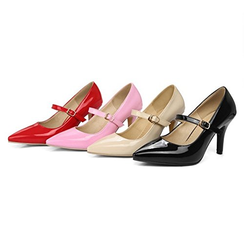 SJJH Kitten Heel Court Shoes with Large Size and 4-Colors Available Pointed Toe Women Shoes Beige KAb9KC