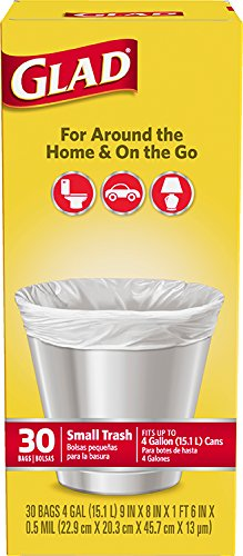 Glad 4 Gallon 30Ct Small Trash 2-Pack by Glad