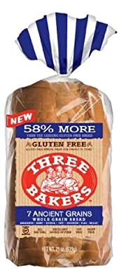 Three Bakers Gluten Free 7 Ancient Grain Bread (Pack of 3)