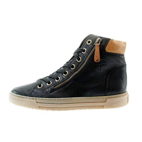 Top High Green Paul cuoio Sneaker Schnürer Black Schwarz 1wqxS