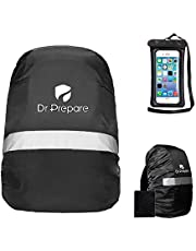 Dr. Prepare Waterproof Backpack Pack Rain Cover with Reflective Strip, Adjustable Non-Slip Buckle Strap, Waterproof Phone Case Pouch for Camping and Hiking