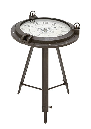 Deco 79 Metal Clock, Table 24 by (Deco Desk Clock)