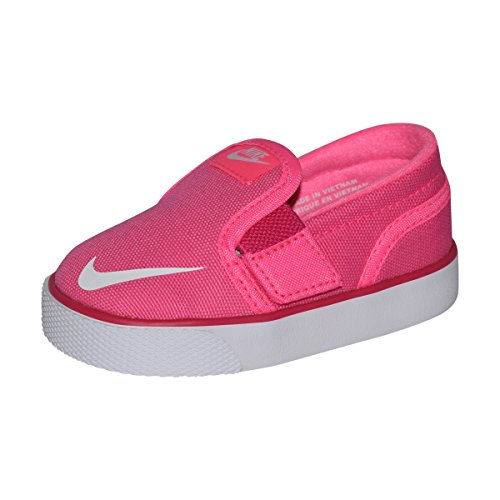 Nike Toki Slipon Canvas Shoe TDV (Pink Pow/White-Vivid Pink, 7C)