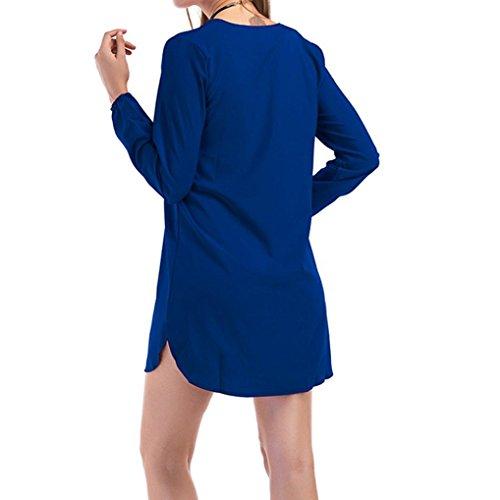 Creazy Bandage Women Hollow Creazydog Solid Sexy Dress Blue Mini Ux7BZ1Oq