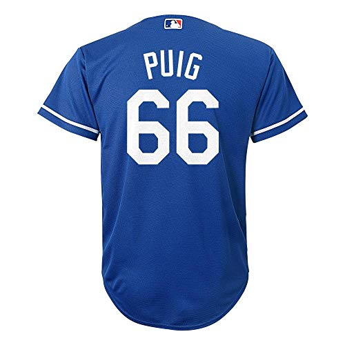 - Outerstuff Yasiel Puig Los Angeles Dodgers MLB Majestic Youth 8-20 Blue Alternate Cool Base Replica Jersey (Youth Medium 10-12)