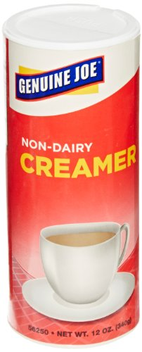 Genuine Joe GJO56250 Non-Dairy Creamer with Reclosable Lid, 12 oz Canister (Pack of 3) - Canister Creamer
