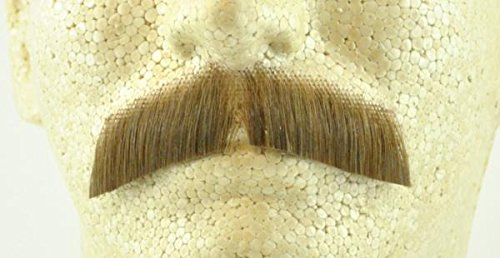 Gentleman Moustache LIGHT BROWN - 100% Human Hair - no. 2011 - REALISTIC! Perfect for Theater - (Theatrical Moustaches And Beards)