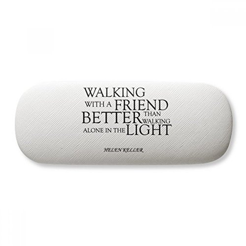 Quote About Friendship By Helen Keller Glasses Case Eyeglasses Clam Shell Holder Storage Box (Keller Shell)
