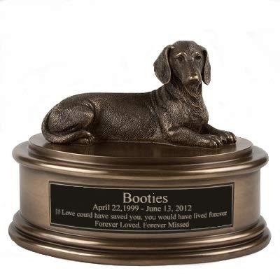 Perfect Memorials Custom Engraved Dachshund Figurine Cremation Urn