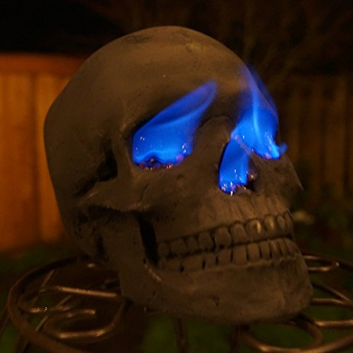 Replica Human Fire Pit Skull Gas Log for Wood Fireplace, Firepit, Campfire, Barbecue (1)