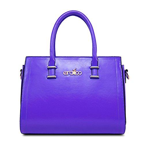 QCKJ Fashion Cross Body Umhängetasche Damen Zip PU Lila bandbag