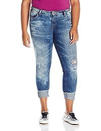 Women's Plus Size Girlfriend Relaxed Skinny Jeans