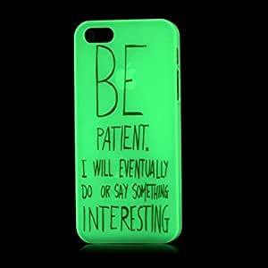 ZXSPACE iPhone 5/iPhone 5S compatible Graphic/Mixed Color/Special Design/Glow in the Dark Back Cover