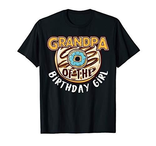 Grandpa Of The Birthday Girl Donut T-Shirt -