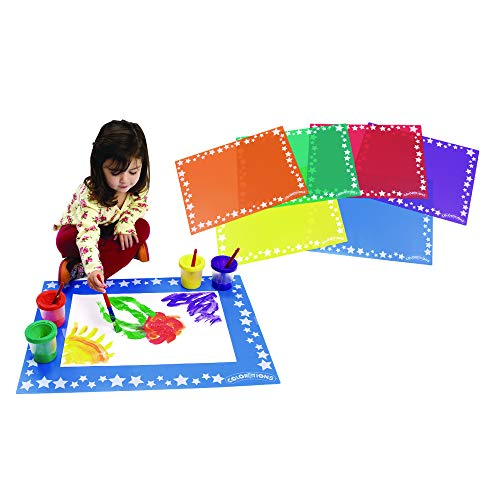 Colorations Tidy Keep-It-Clean Plastic Art Mats (Pack of 6)