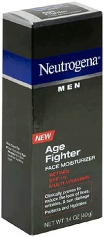 Neutrogena Age Fighter Anti-Wrinkle Face Moisturizer for Men, Daily Oil-Free Face Lotion with Retinol, Multi-Vitamins, and Broad Spectrum SPF 15 Sunscreen, 1.4 oz (Pack of 2)
