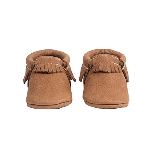Freshly Picked Soft Sole Leather Baby Moccasins - Zion Size 4 by Freshly Picked
