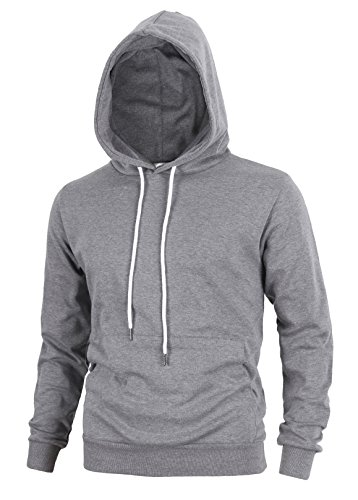 Delight Men's Fashion Fit Hoodie Pullover With Kanga Pocket(US Medium, Dark Grey)