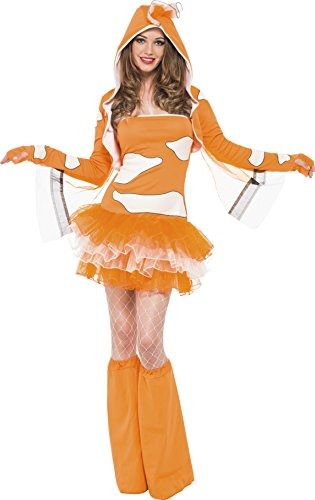 Clown Fish Adult Costumes (Fever Women's Clown Fish, Multi, Large)