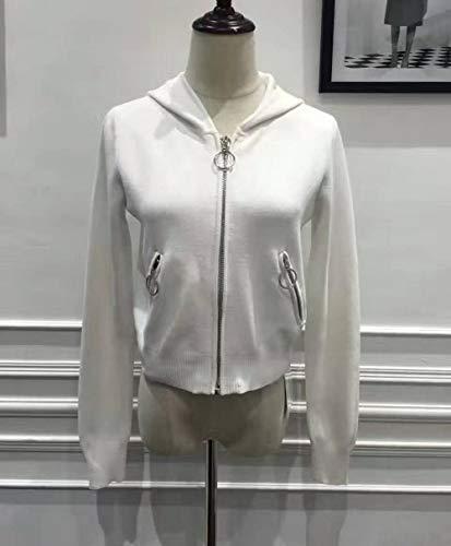 Coat Otoño Tjoirej Zipper Abrigos Warm Solid Sudadera Capucha Con Hoodies Blanco Calidad Primavera Women Sudaderas Mujeres Hoody Design De Mujer qgYzq
