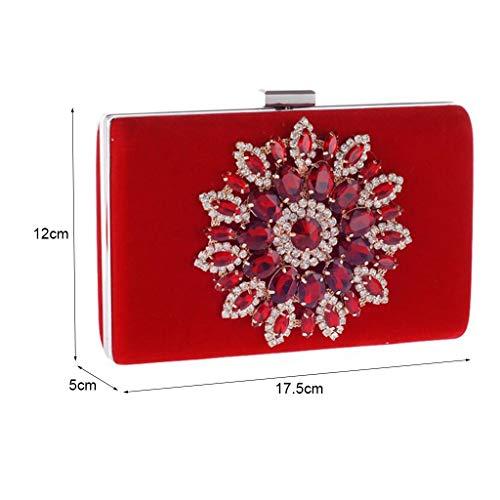 Sac Banquet Couleur Red Sac Main Générique Portefeuille Sac Sac Pochette Mode Red Femme À Soirée Téléphone Femmes Pochette Mobile Embrayages 0TXqp