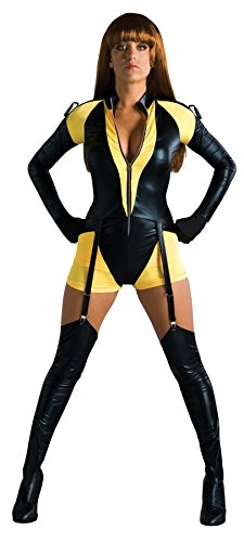 [UHC Women's Watchmen Silk Spectre Sexy Romper Yellow Dress Halloween Costume, XS (4-6)] (The Watchmen Silk Spectre Costume)