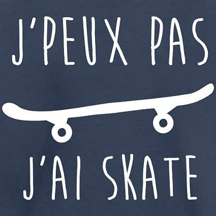JPeux Pas Jai Skate Humour Cadeau Dr/ôle Ados Skateurs Sweatshirt
