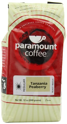 Paramount Tanzania Peaberry Bean, 12-Ounce Bags (Pack of 3)