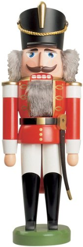 Seiffener Volkskunst, Husar Nutcracker 37 cm, red (Figurines Germany)