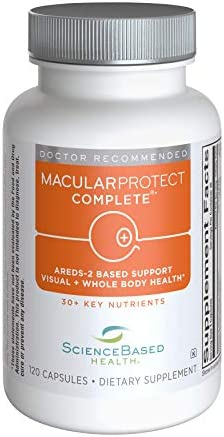 MacularProtect Complete AREDS2 Vitamin & Mineral Supplement and Whole Body Multinutrient - 120 Count