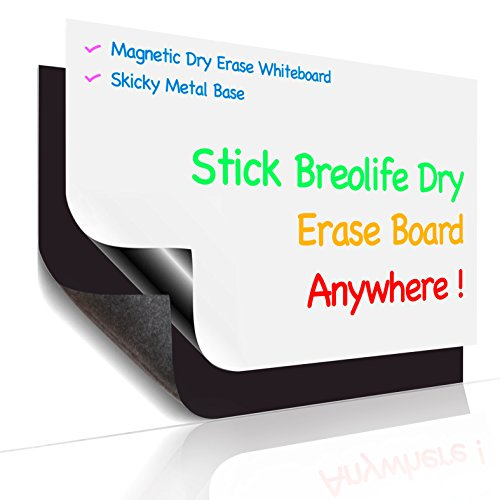"""Magnetic Refrigerator Calendar 17"""" x 11"""" Dry Erase Board Planner Calendar for Any Smooth Surface (1 Set) by..."""