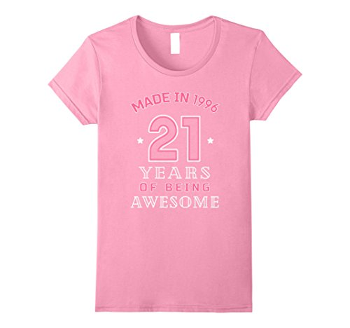 Womens Made In 1996 Awesome Cute T-Shirt Funny 21st Birthday Gift Medium Pink (21st Birthday Gifts Awesome)