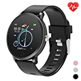 moreFit Smart Watch for Android iOS Phones, Smart Fitness Watch with Heart Rate Monitor Pedometer Step Counter for Walking Sleep Tracker Waterproof Fitness Watches for Women Men