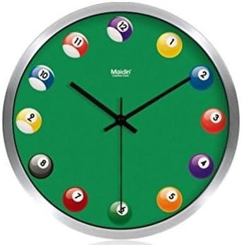 Stylish Creative Fun 12″ Round Non-Ticking Silent Quiet Wall Clock
