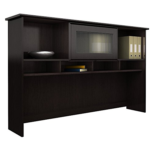 Bush Furniture Cabot Hutch in Espresso Oak Collection Desk Hutch
