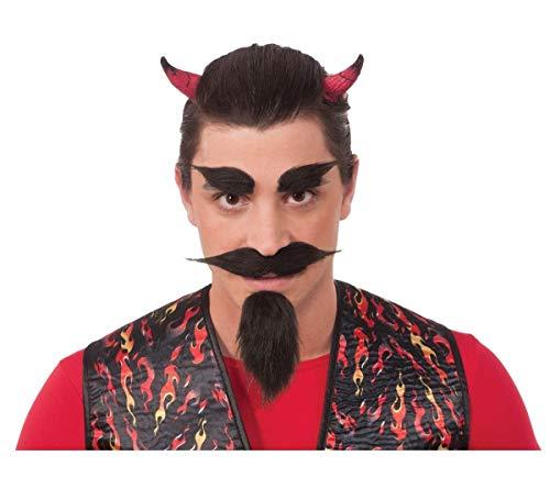 Devil Black Beard & Facial Hair Set]()