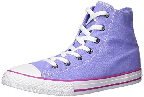 Converse Chuck Taylor All Star Seasonal Canvas High Top Sneaker, Twilight Pulse/Hyper Magenta, 3 M US Little Kid ()