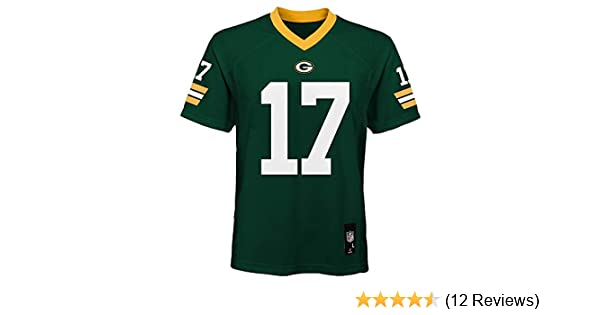 new concept af21e 8c085 Davante Adams Green Bay Packers NFL Youth Green Home Mid-Tier Jersey